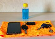 Sanitizing keys and cell phone