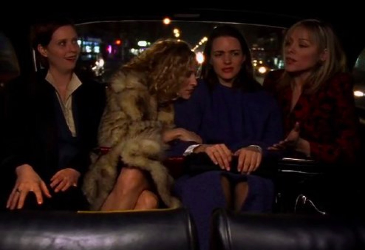 Cynthia Nixon, Sarah Jessica Parker, Kristin Davis, and Kim Cattrall in Sex and the City