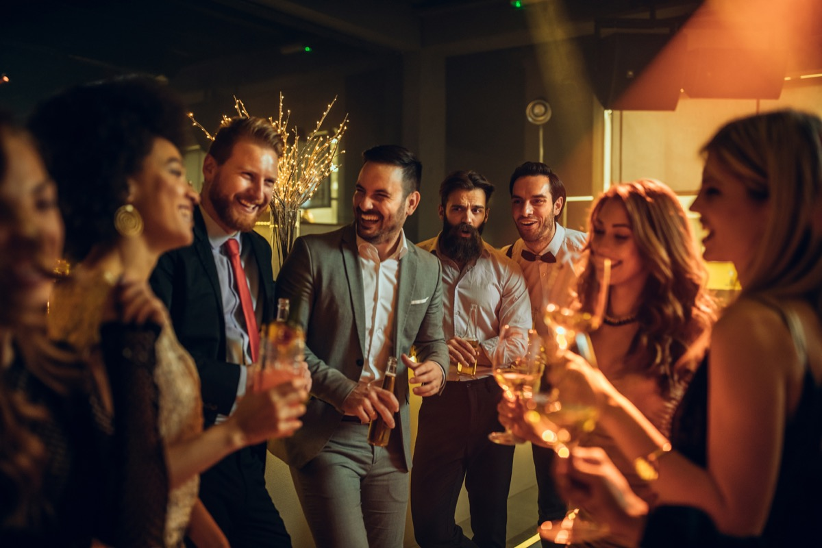 young adults at a social club