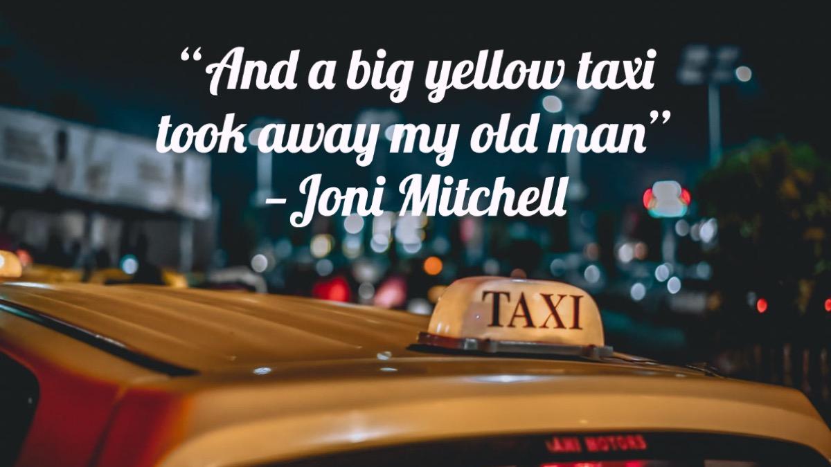 Big Yellow Taxi lyrics Joni Mitchell