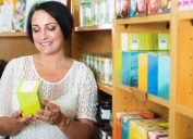 Woman looking at teas