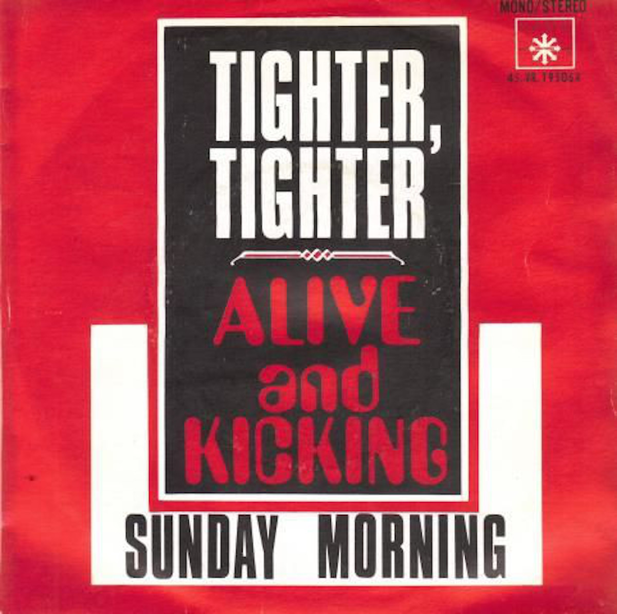 """album cover for """"tighter, tighter"""" by alive and kicking"""