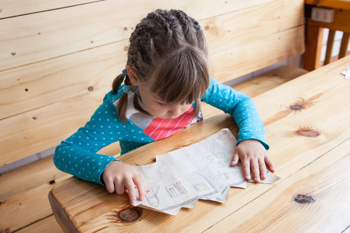 Looking at treasure hunt map