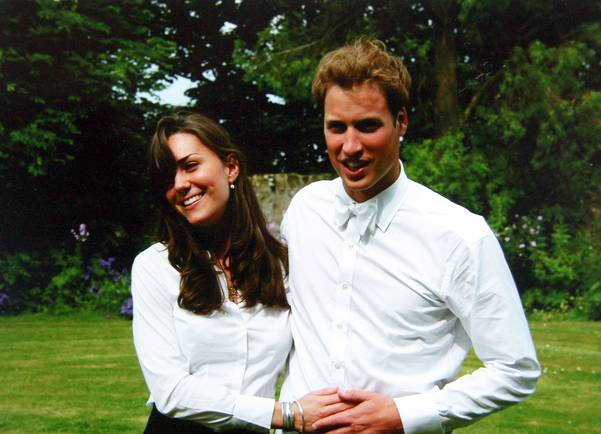 Catherine Middleton and Prince William on their graduation day, St. Andrews University June 2005