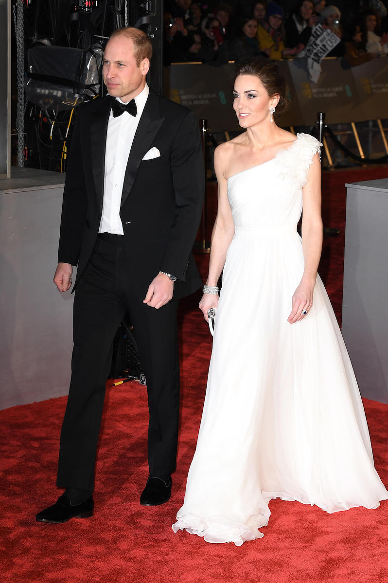 Prince William and Kate Middleton attend the EE British Academy Film Awards in London in 2019