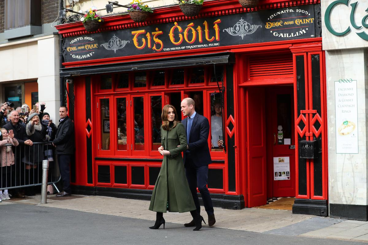 The Duke and Duchess of Cambridge meet local Galwegians after a visit to a traditional Irish pub in Galway city centre on the third day of their visit to the Republic of Ireland on Mar. 5 2020