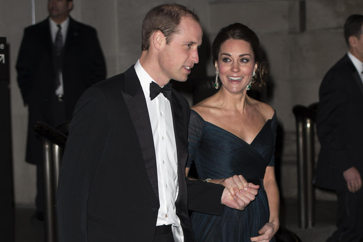 The Duke and Duchess of Cambridge at the St Andrews 600th Anniversary Dinner at the Metropolitan Museum of Art in New York during their visit in 2014