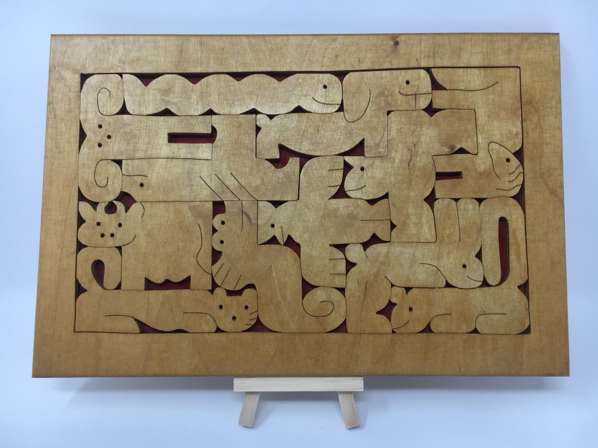 wooden zodiac puzzle