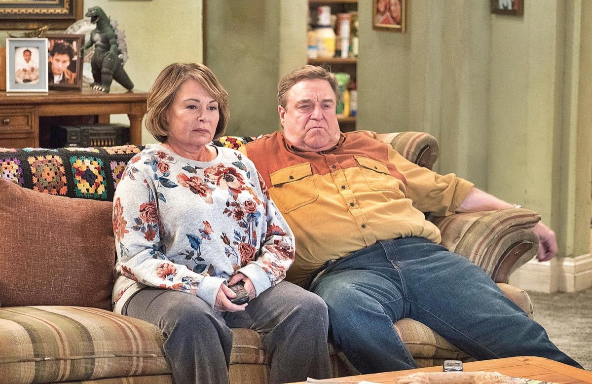 roseanne barr and john goodman on the roseanne reboot