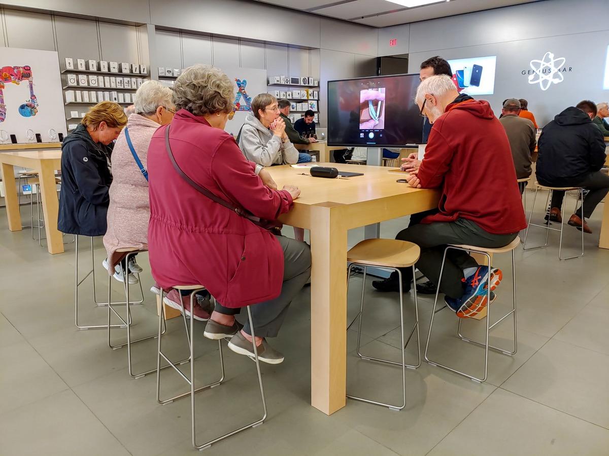 Apple store class in progress