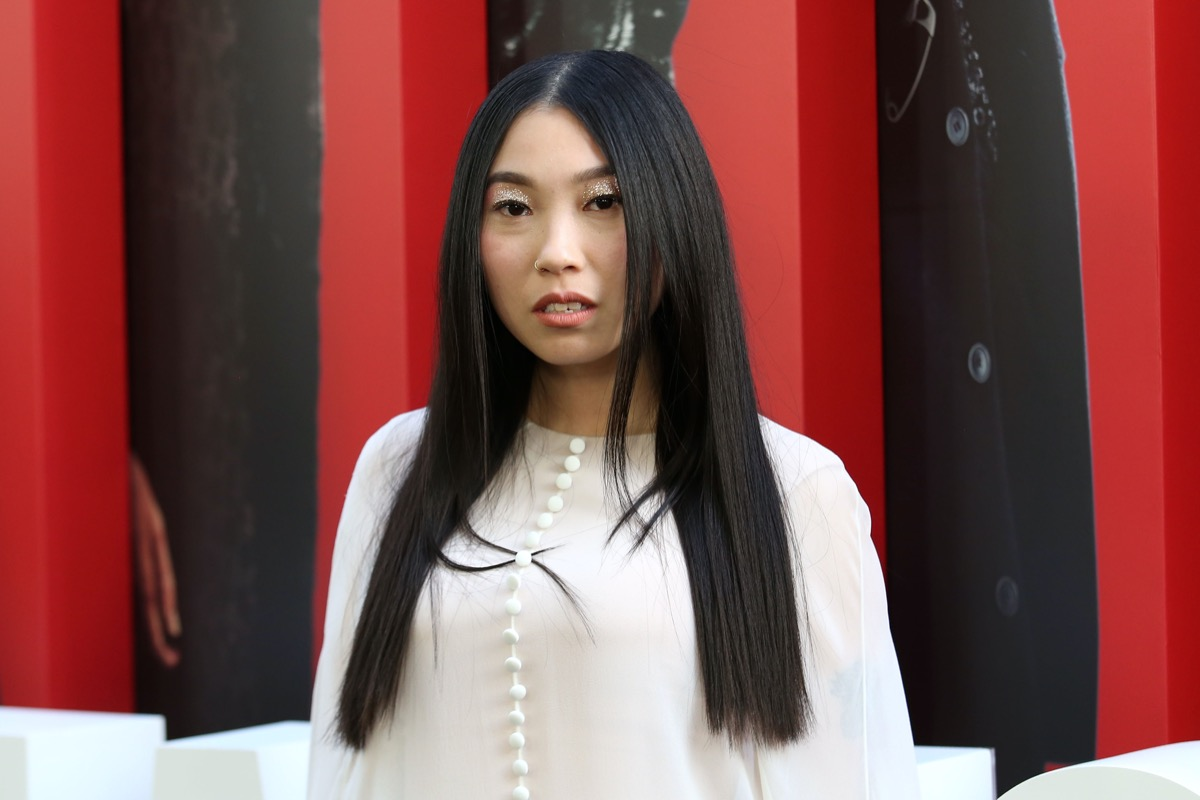 Awkwafina on a red carpet