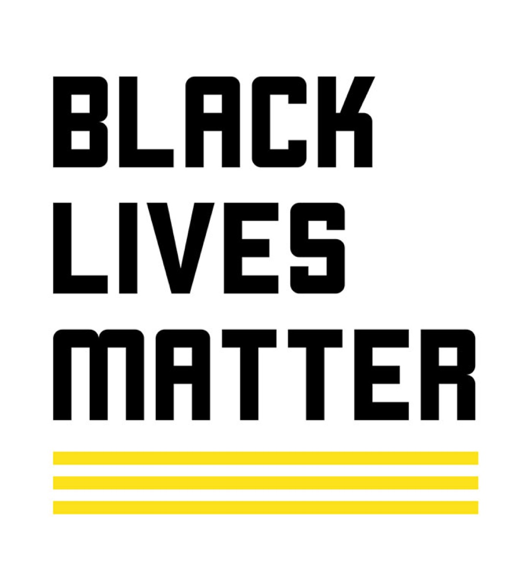 BLM Logo, black and yellow