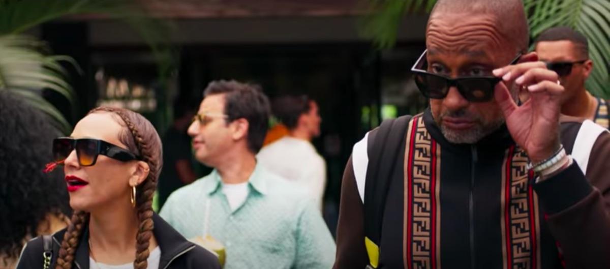 Rashida Jones and Kenya Barris in #BlackAF