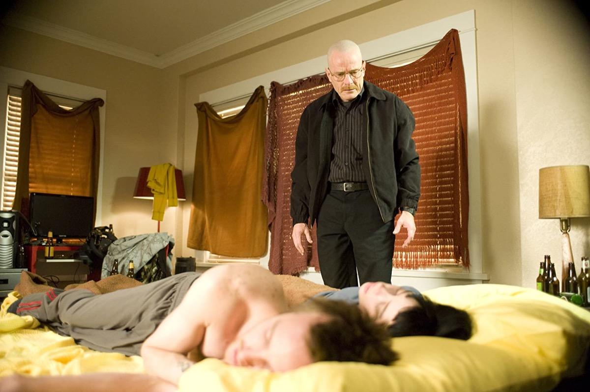 Aaron Paul, Krysten Ritter, and Bryan Cranston in Breaking Bad