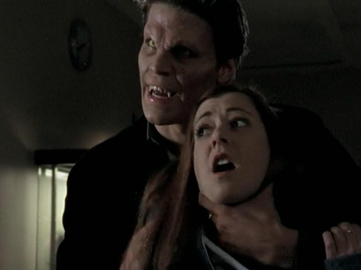David Boreanaz and Alyson Hannigan in Buffy the Vampire Slayer
