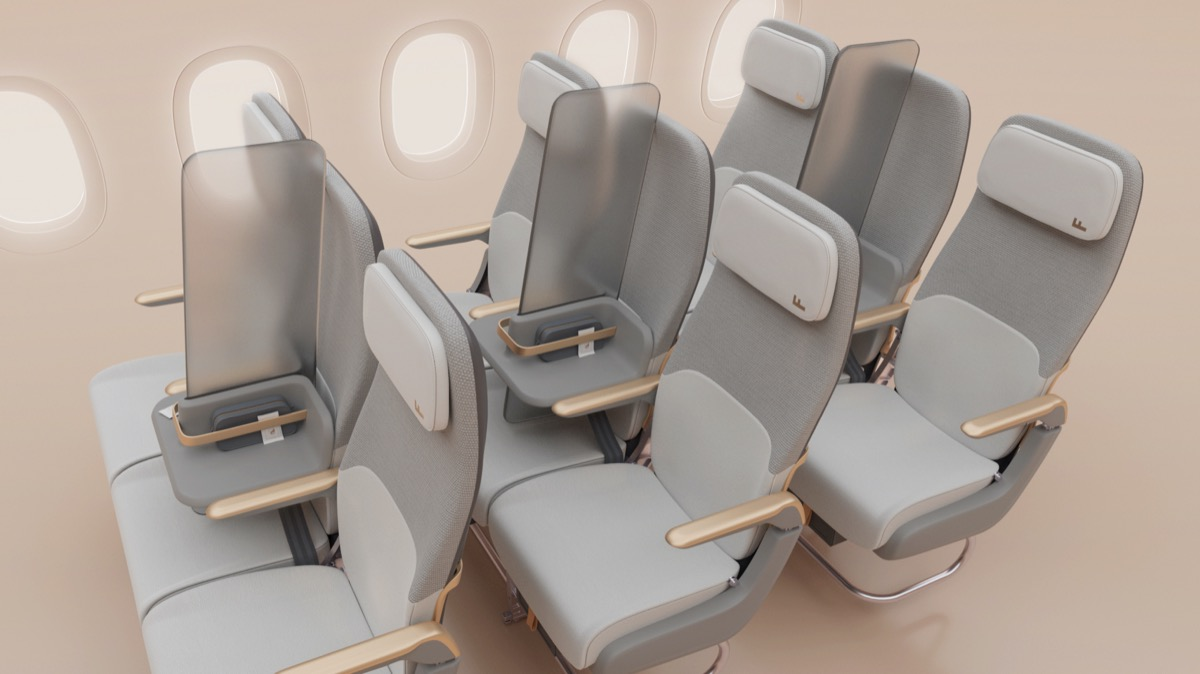 Isolate airplane seat designed by Factorydesign