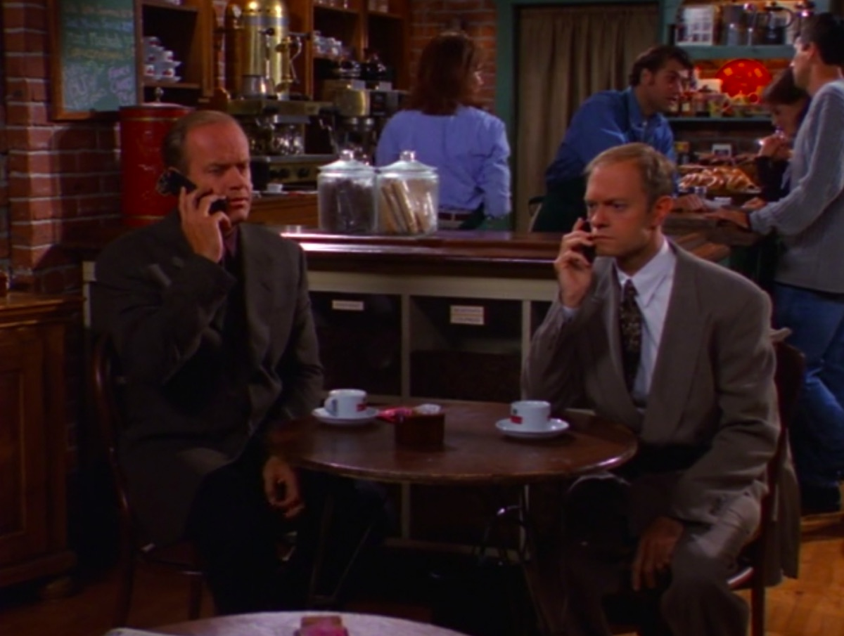 Kelsey Grammer and David Hyde Pierce in Frasier