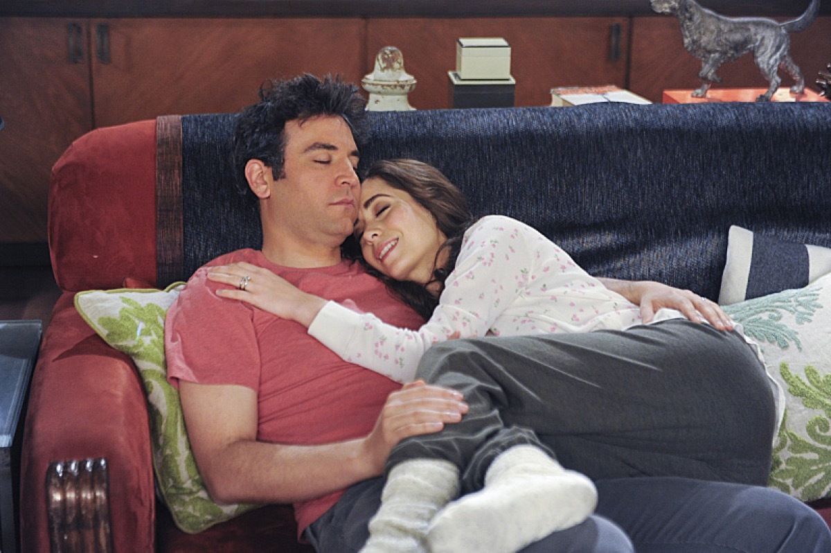 Josh Radnor and Cristin Milioti in How I Met Your Mother