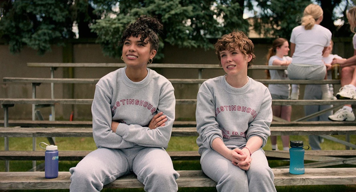 Sofia Bryant and Sophia Lillis in I Am Not Okay with This