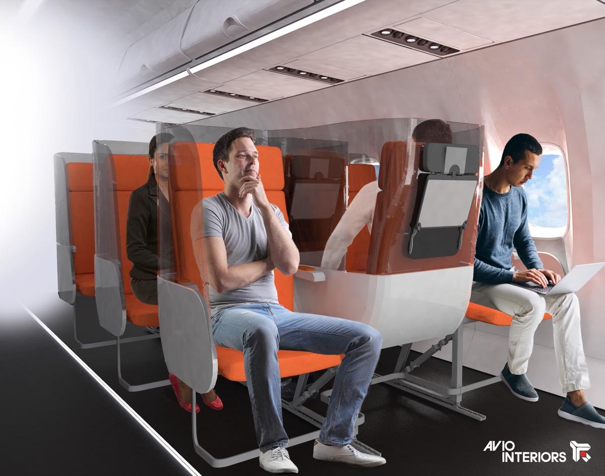 Janus airplane seat designed by Aviointeriors