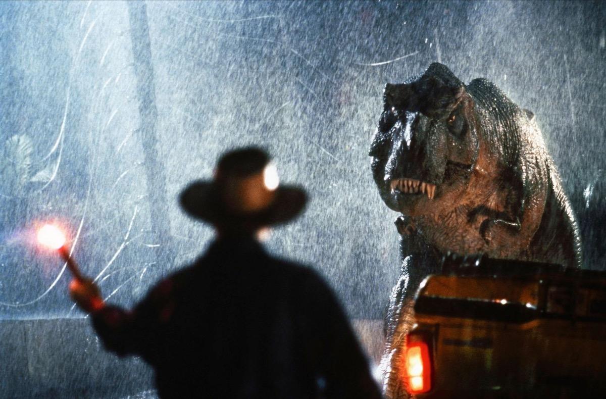 t-rex in jurassic park