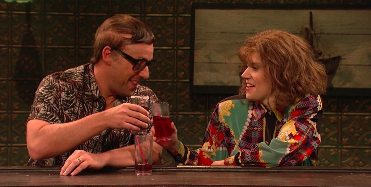 Adam Sandler and Kate McKinnon in Saturday Night Live