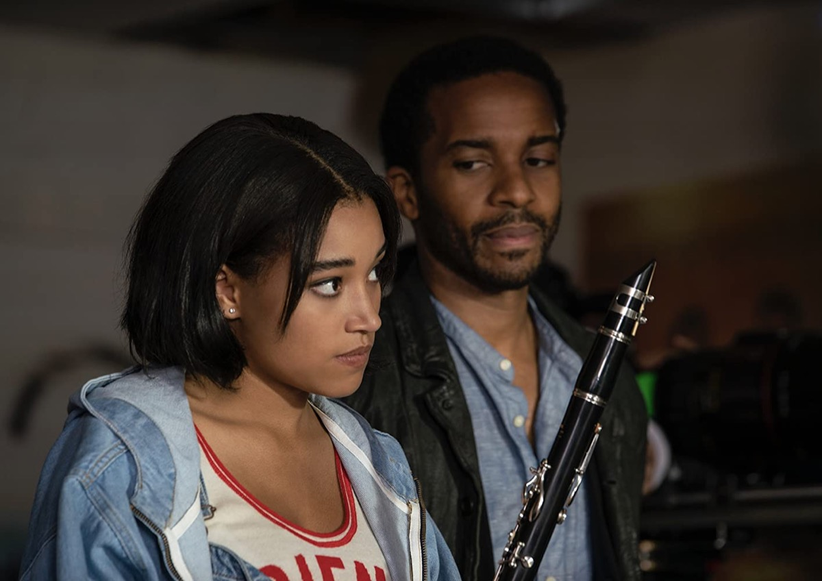 Amandla Stenberg and Andre Holland in The Eddy