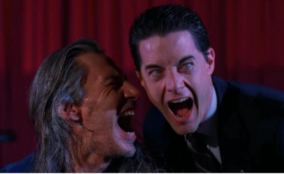 Frank Silva and Kyle MacLachlan in Twin Peaks