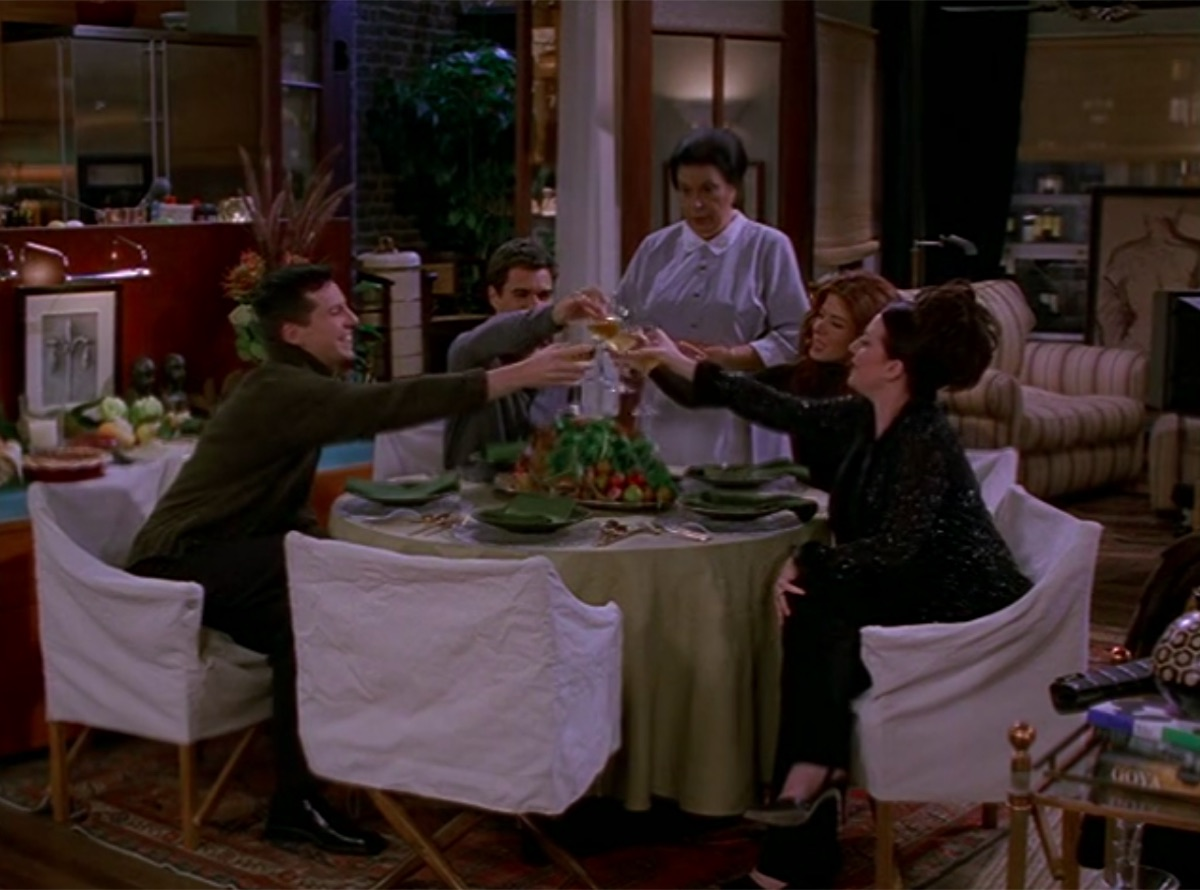 Sean Hayes, Eric McCormack, Shelley Morrison, Debra Messing, and Megan Mullally in Will & Grace