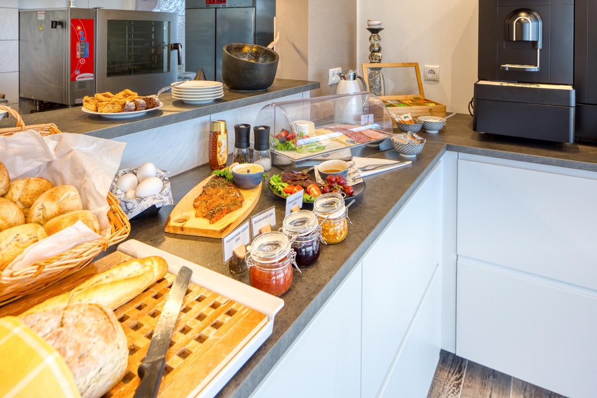 Hotel buffet continental breakfast