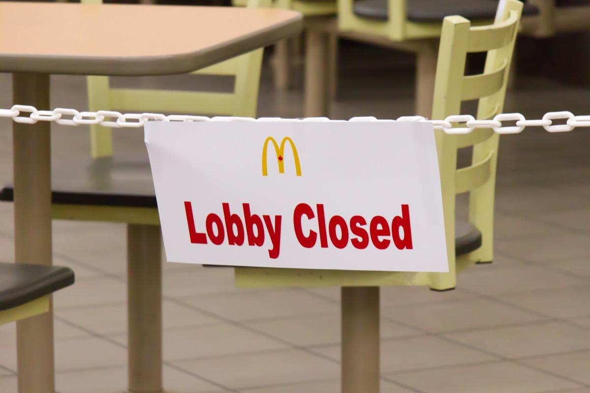 closed mcdonald's inside walmart