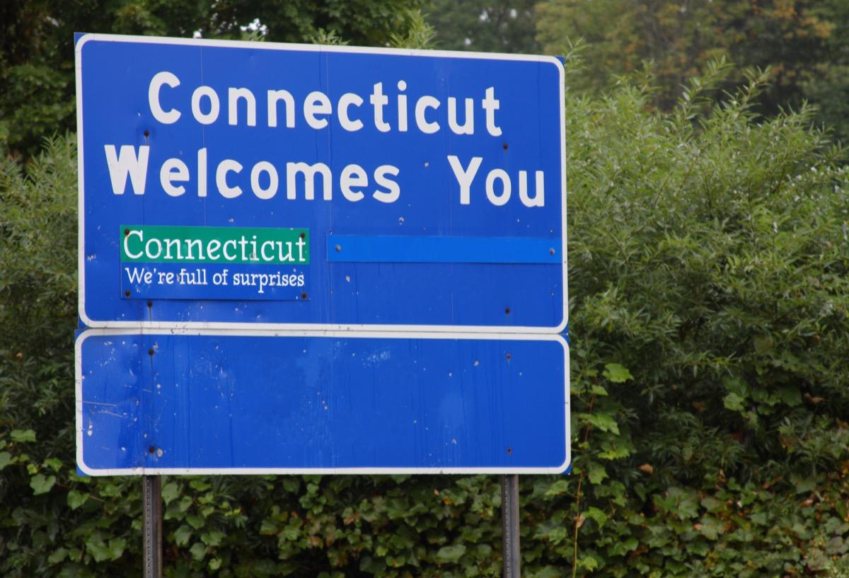 Entering Connecticut