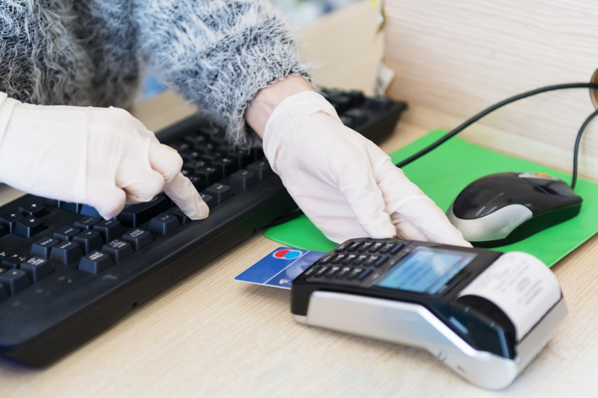 Paying with credit or debit card at doctor's office