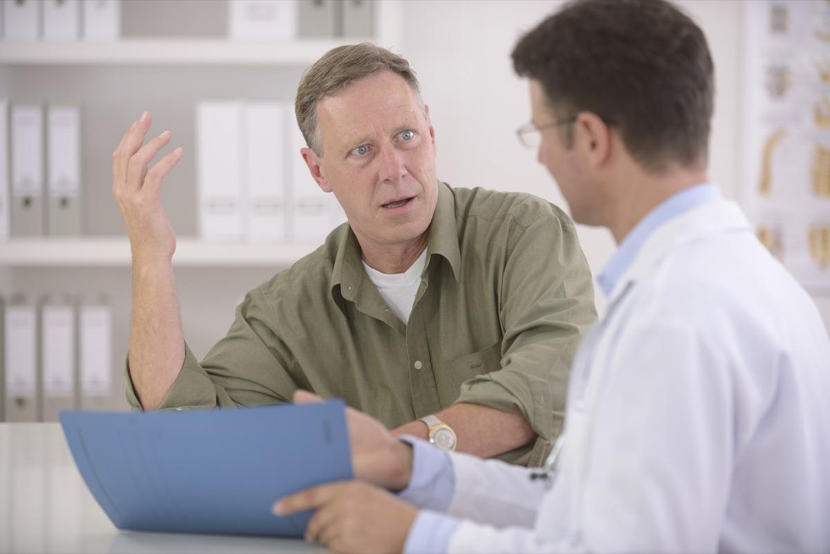 older white man at doctor's office