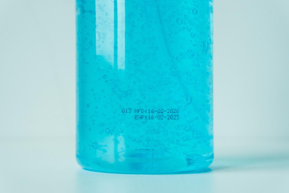 Hand sanitizer expiration date