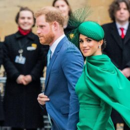 The Duke and Duchess of Sussex arrive for their last official engagement, a service to commemorate the Commonwealth is attended by the Royal Family and representatives of Commonwealth countries, at Westminster Abbey in Mar. 2020.