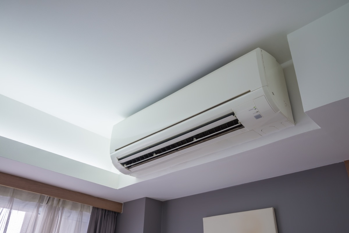 Heating and air conditioning system in hotel room