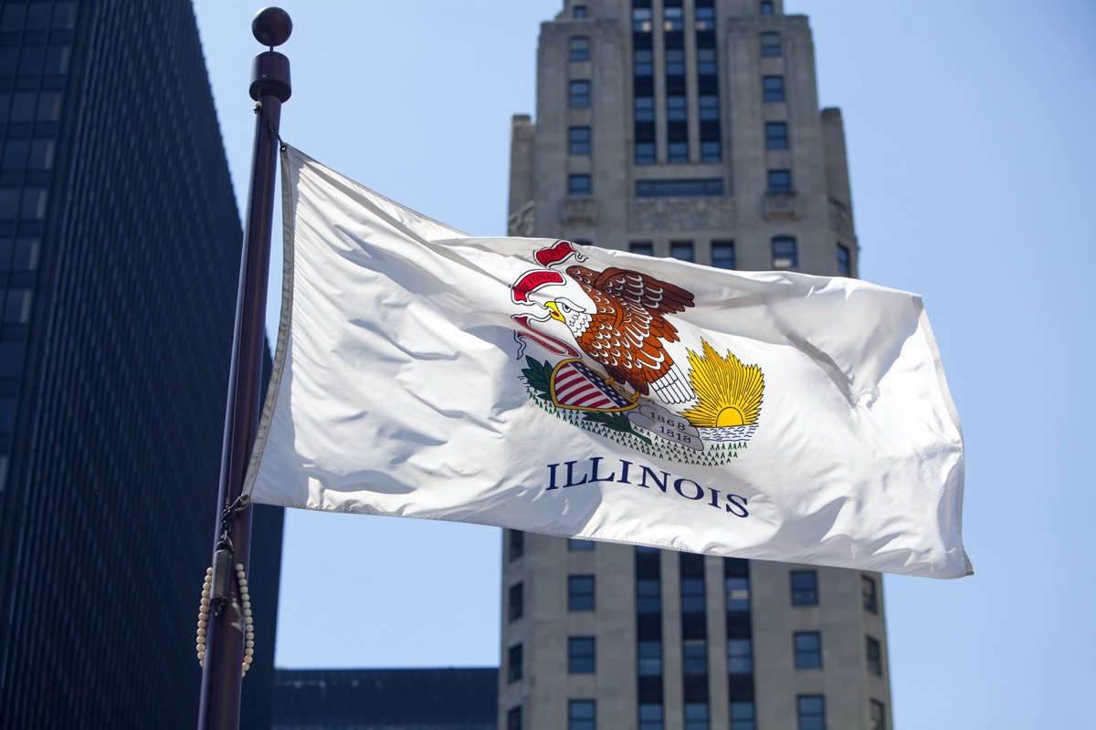 Flag of the state of Illinois.