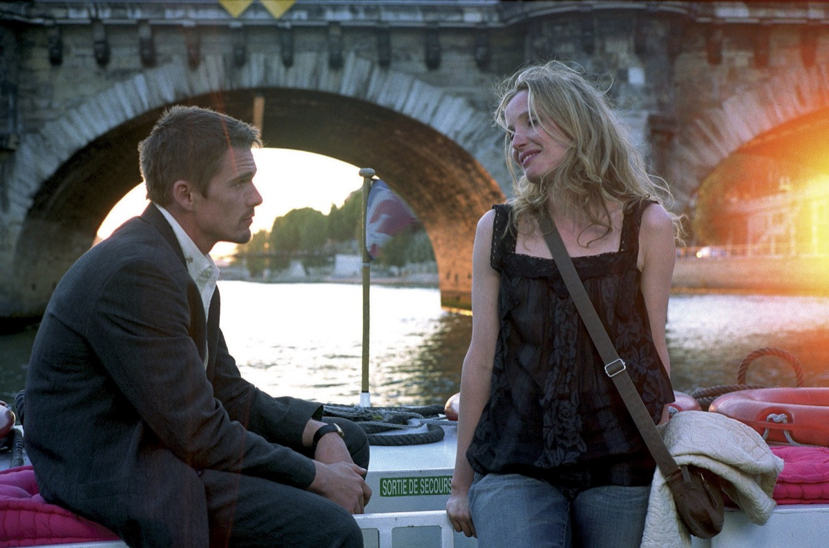 ethan hawke and julie delpy in before sunset