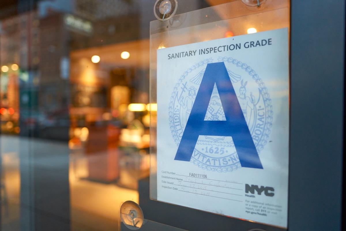 inspection grade sign