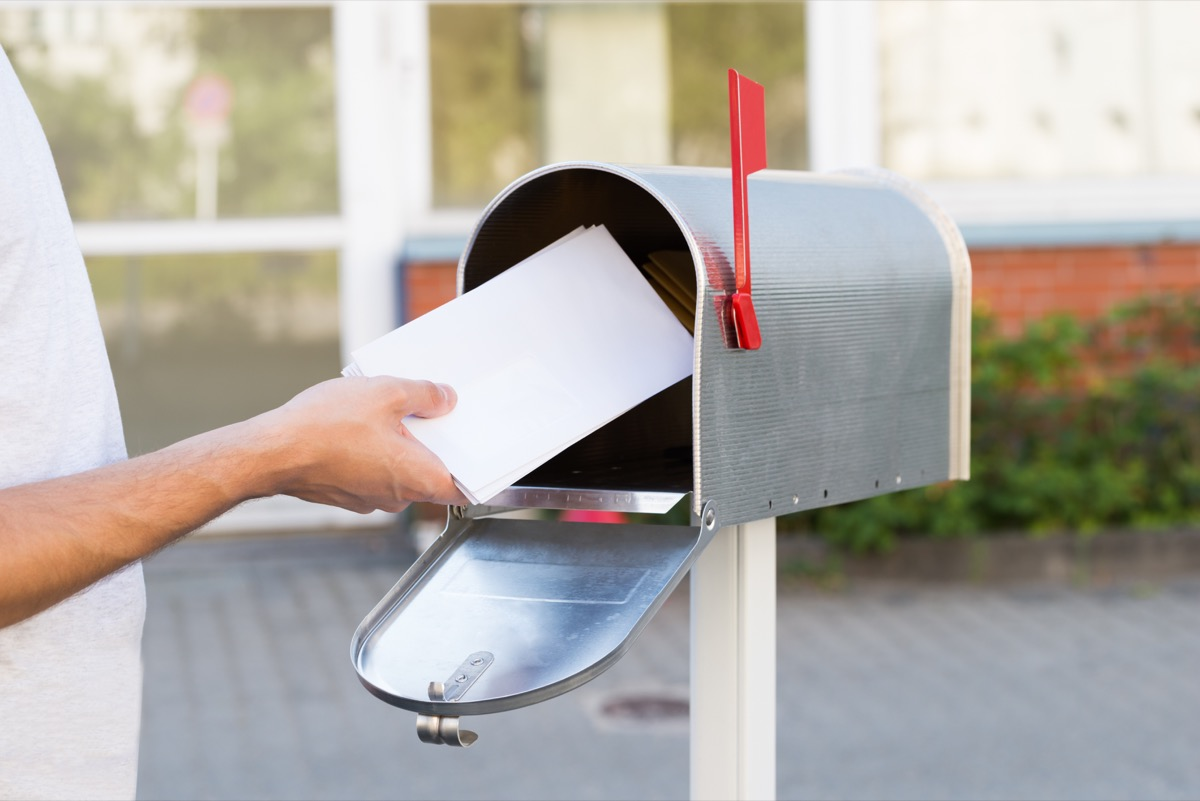Person getting the mail