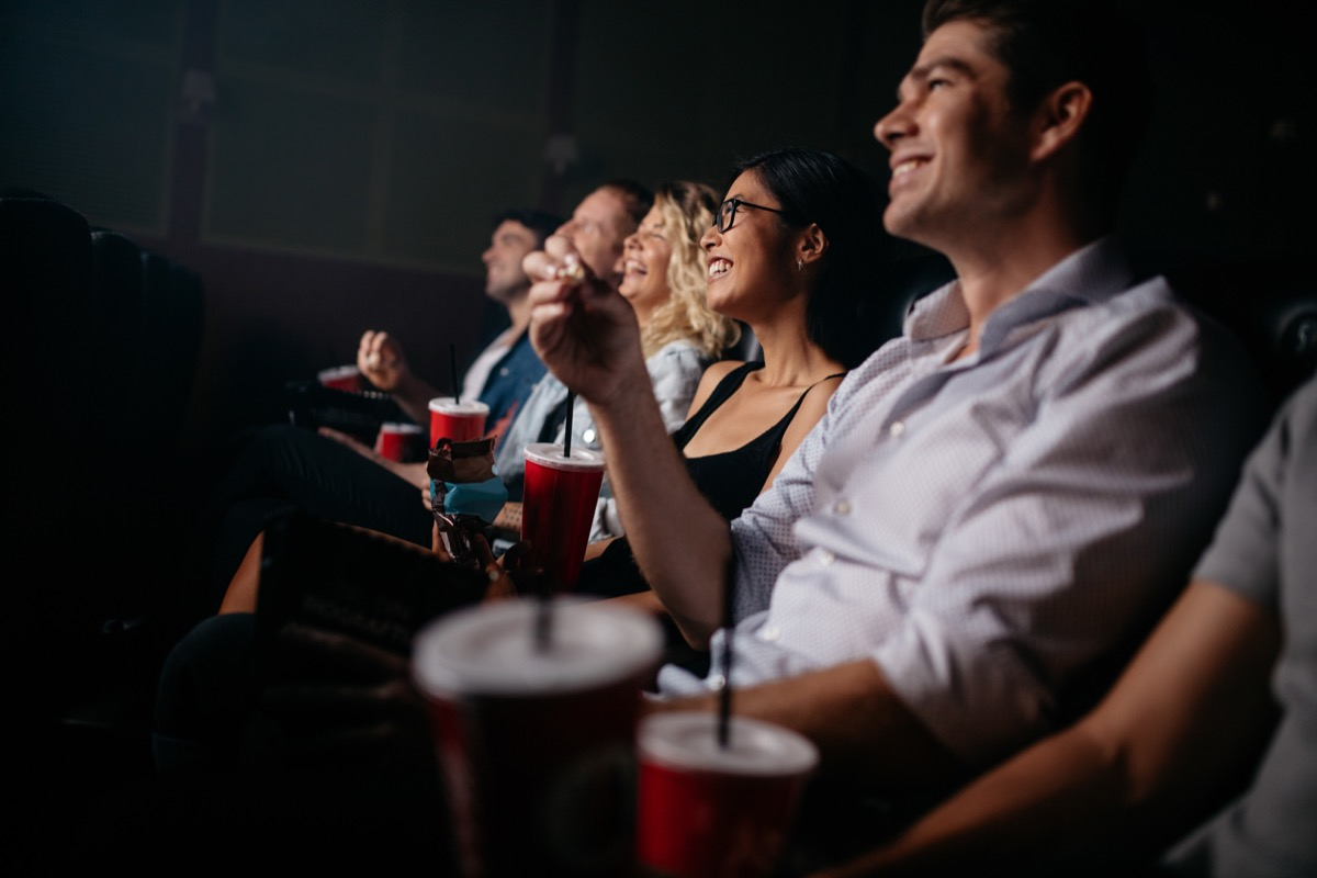 movie theater customers