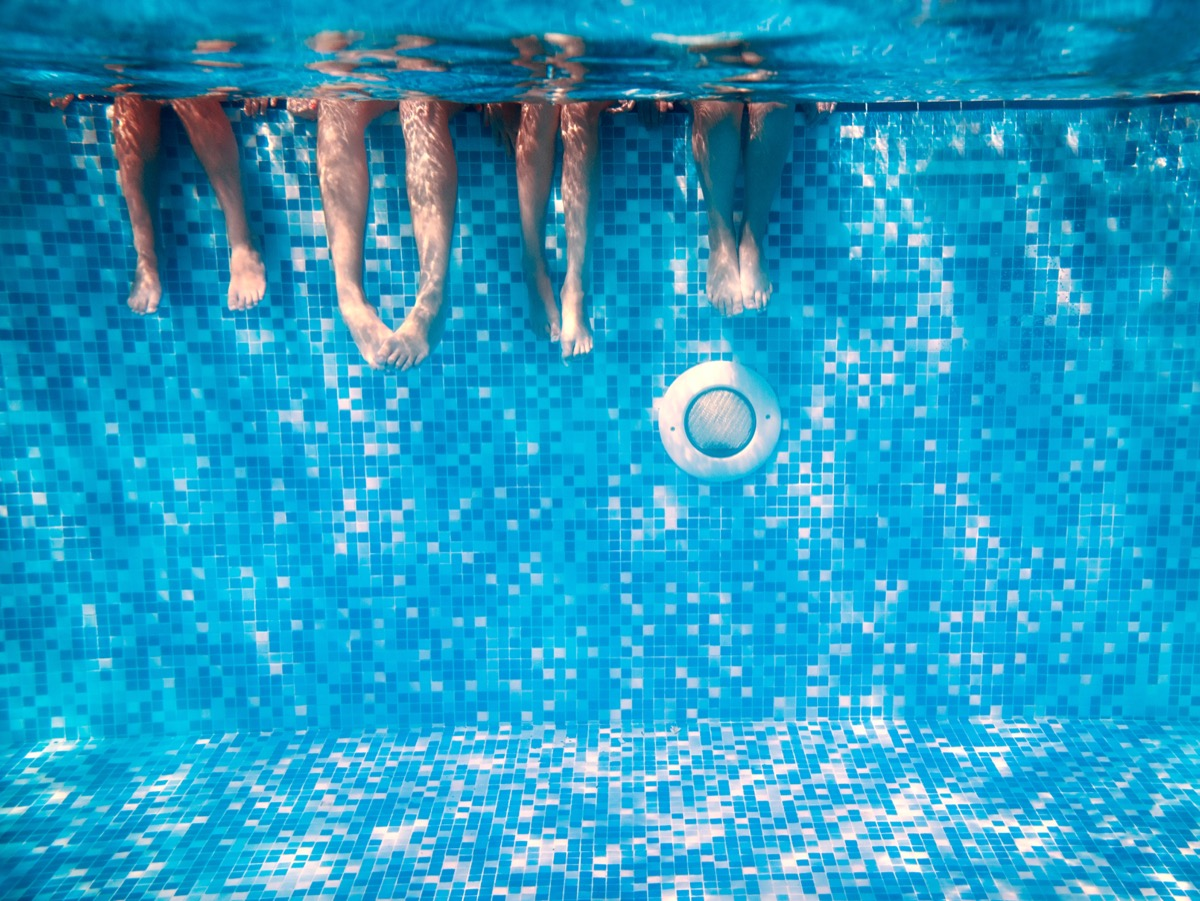 Legs in a pool