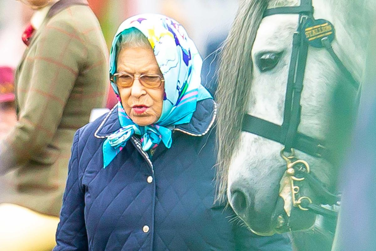 Her Majesty Queen Elizabeth ll stands with her pony Balmoral Mandarin in 2018