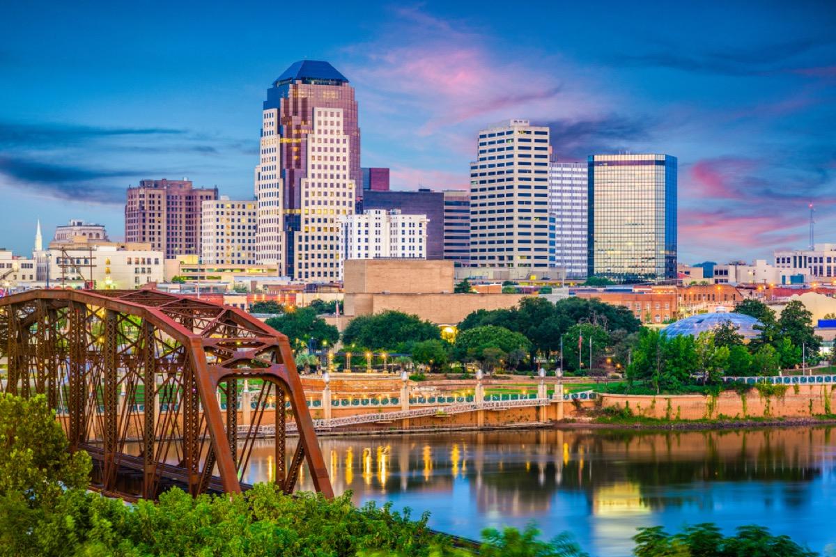 skyline of Shreveport, Louisiana