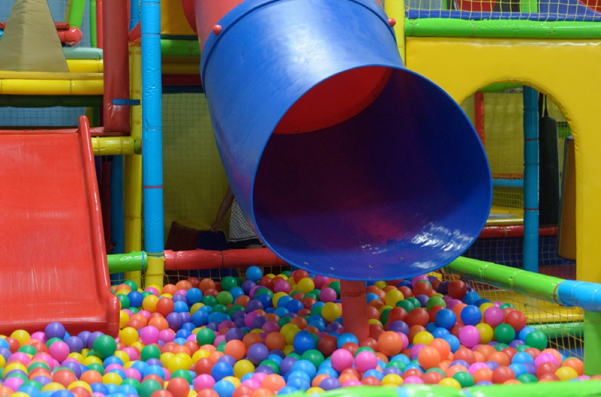 slide and ball pit