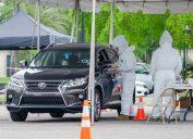 drive thru coronavirus testing in new orleans