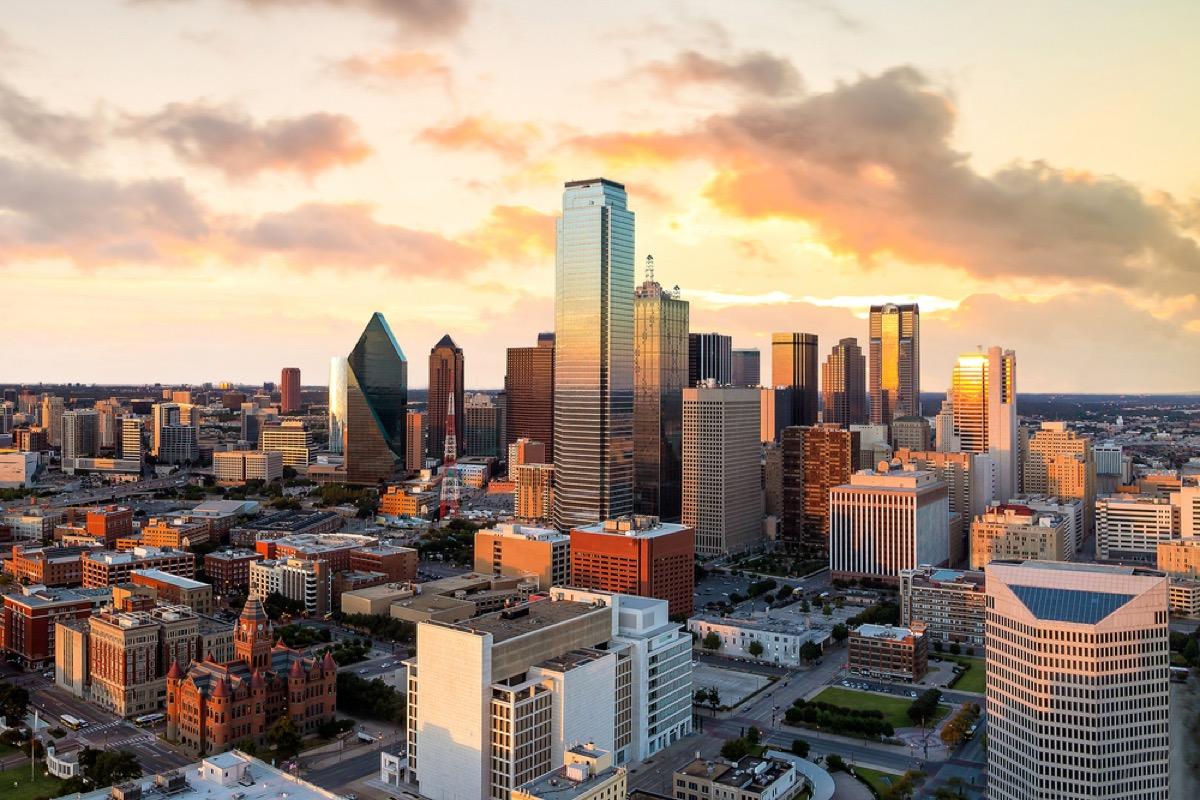 skyline of dallas texas