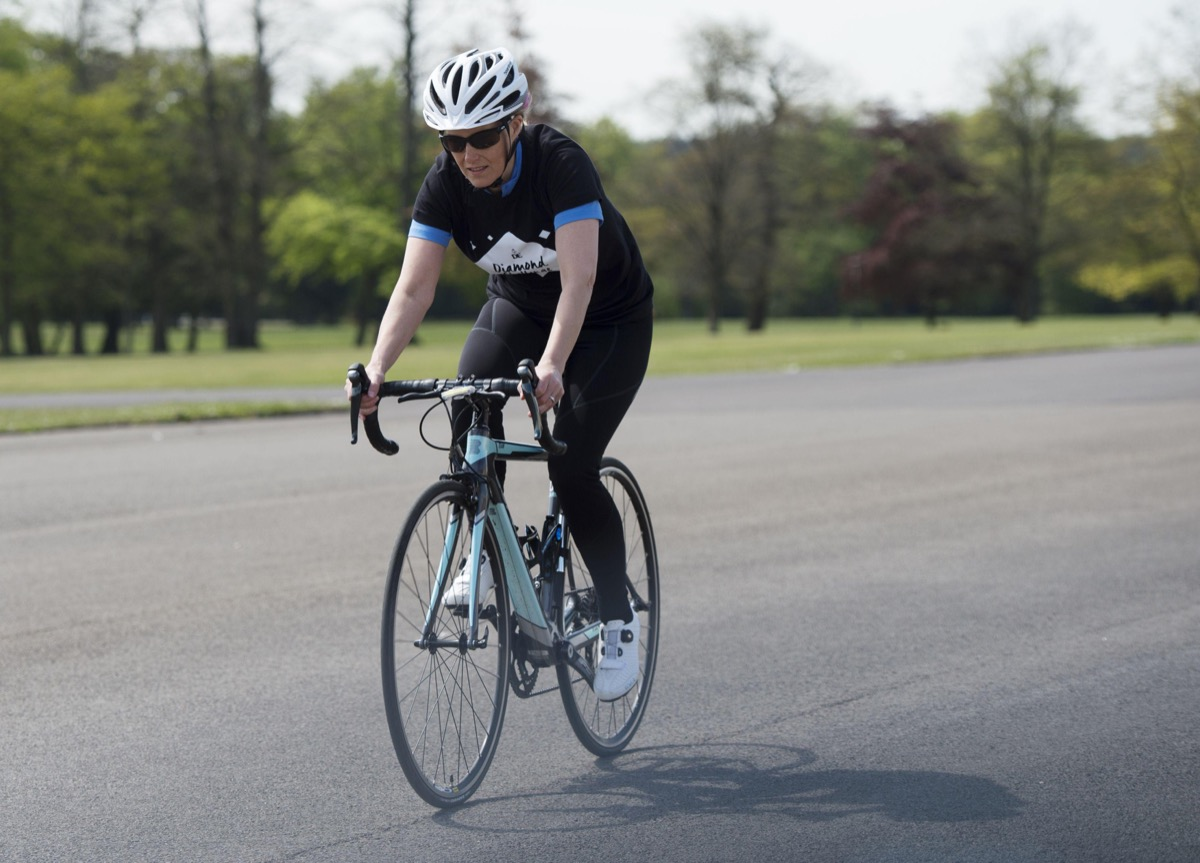 Countess of Wessex trains for charity bike ride