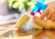 Spraying disinfectant to kill coronavirus